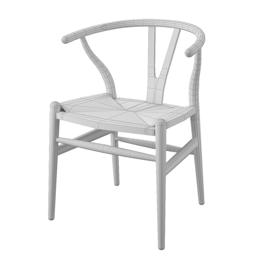 Krzesło Wishborn - Hans J. Wegner royalty-free 3d model - Preview no. 7