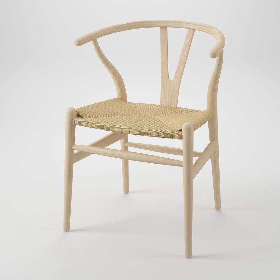 Krzesło Wishborn - Hans J. Wegner royalty-free 3d model - Preview no. 2