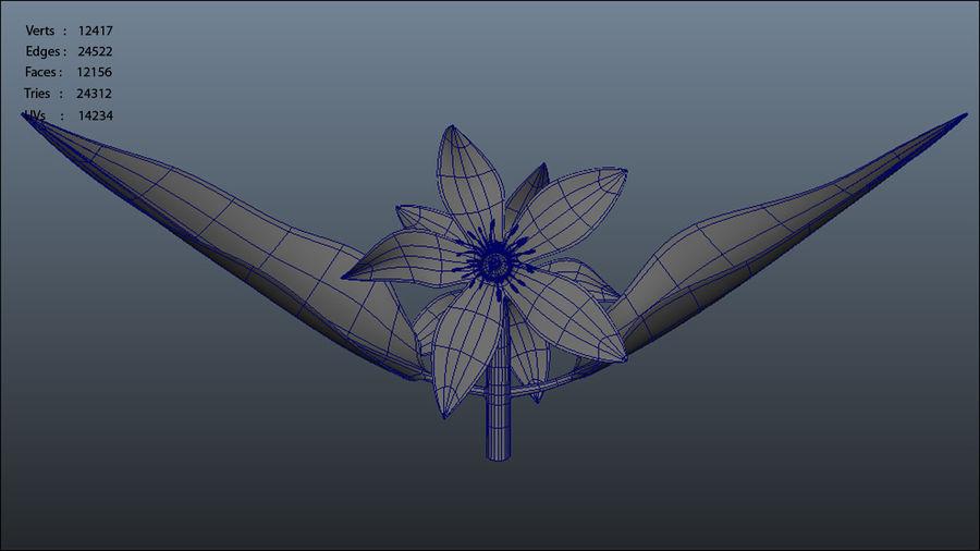 Citrus flower royalty-free 3d model - Preview no. 7