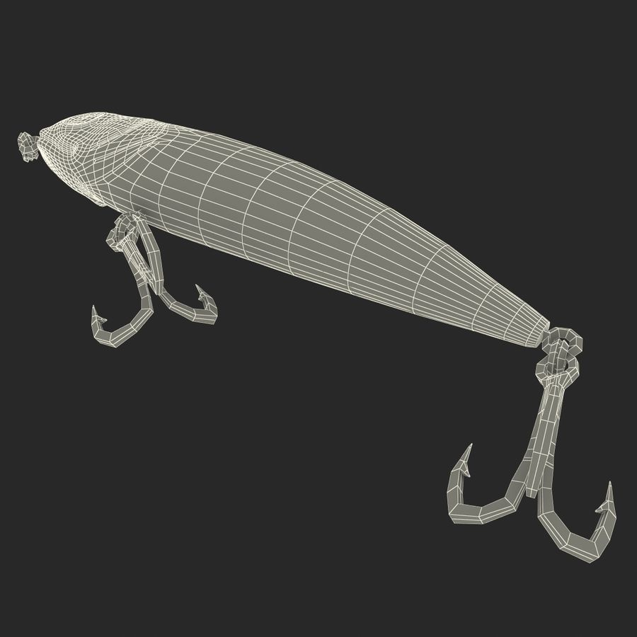 Saltwater Fishing Lure royalty-free 3d model - Preview no. 11