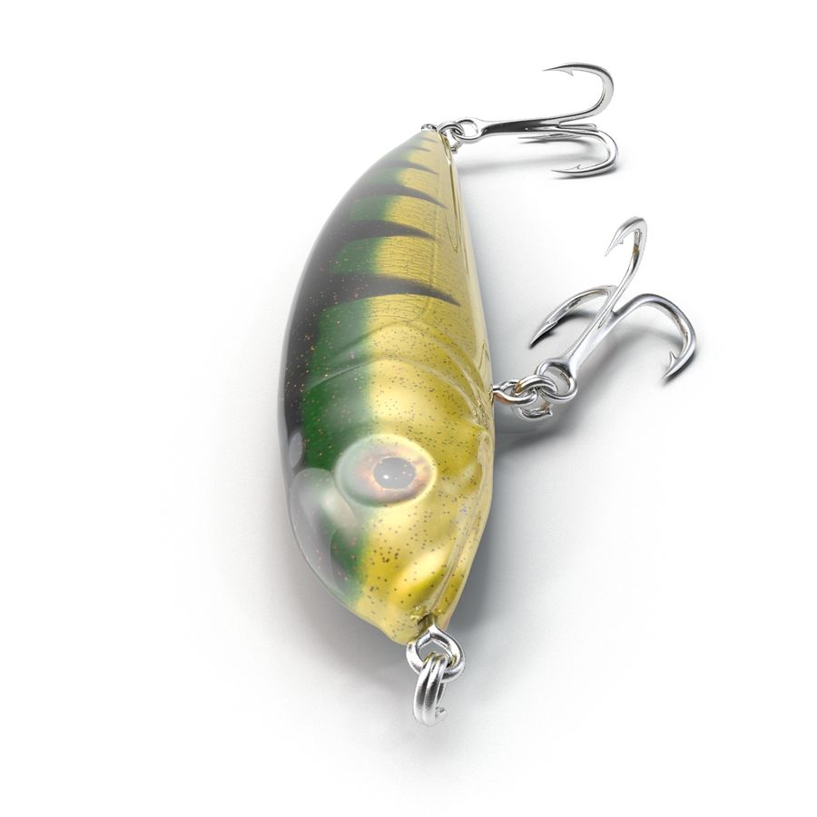 Saltwater Fishing Lure royalty-free 3d model - Preview no. 5