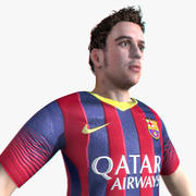 Realtime Soccer Player 3d model