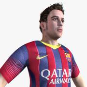Realtime Soccer Player 3d model