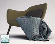 arm chair poliform mad.1 3d model