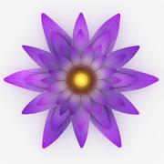 Kwiat lotosu 3d model