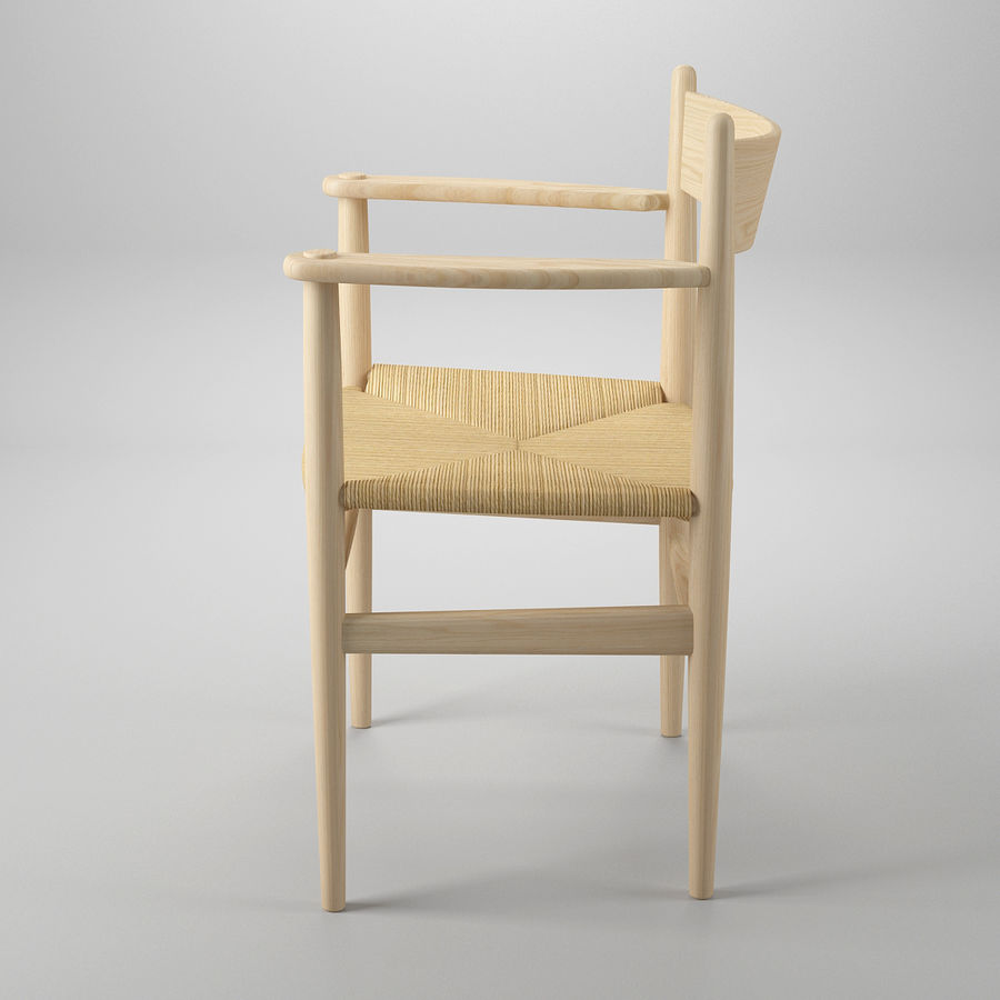 CH37 Hans J. Wegner主席 royalty-free 3d model - Preview no. 4