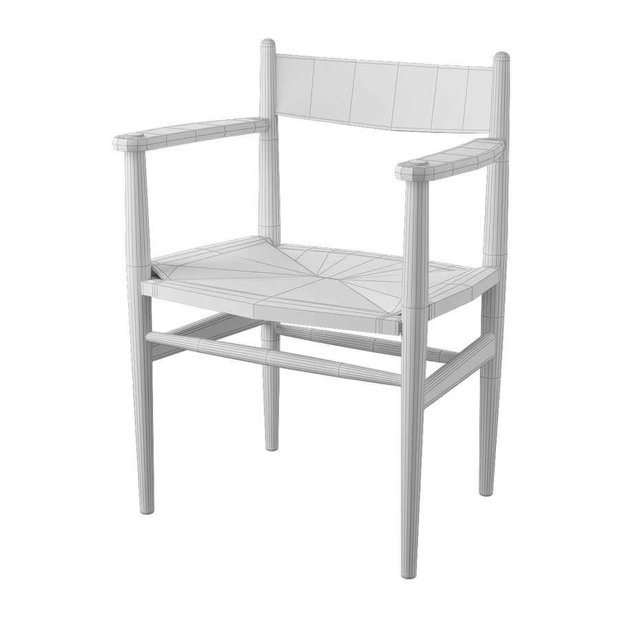 CH37 Hans J. Wegner主席 royalty-free 3d model - Preview no. 8