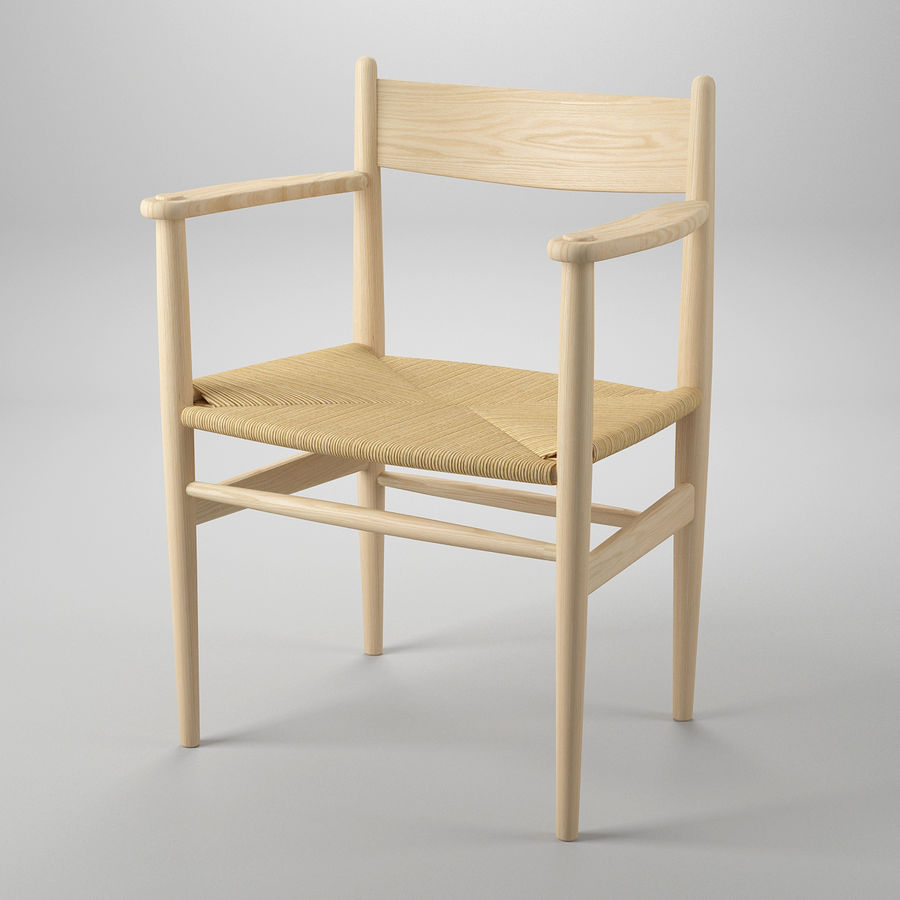 CH37 Hans J. Wegner主席 royalty-free 3d model - Preview no. 2