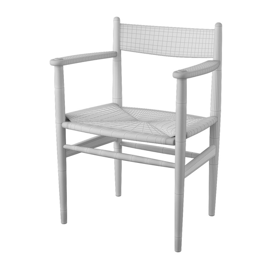 CH37 Hans J. Wegner主席 royalty-free 3d model - Preview no. 7