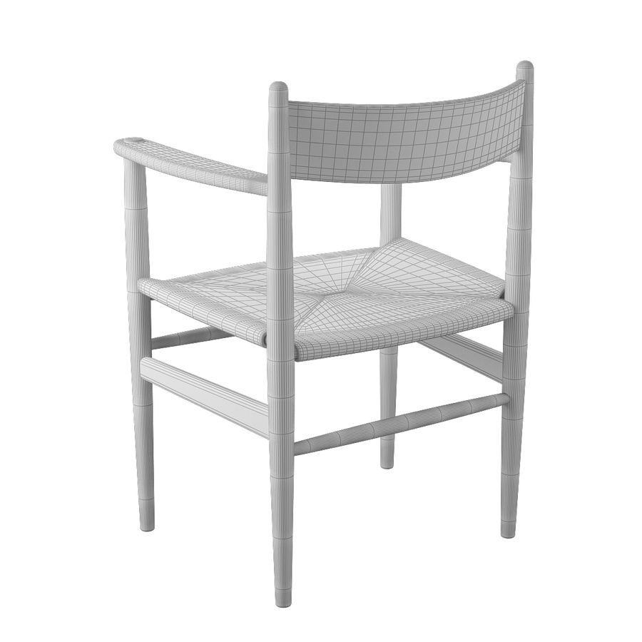 CH37 Hans J. Wegner主席 royalty-free 3d model - Preview no. 10