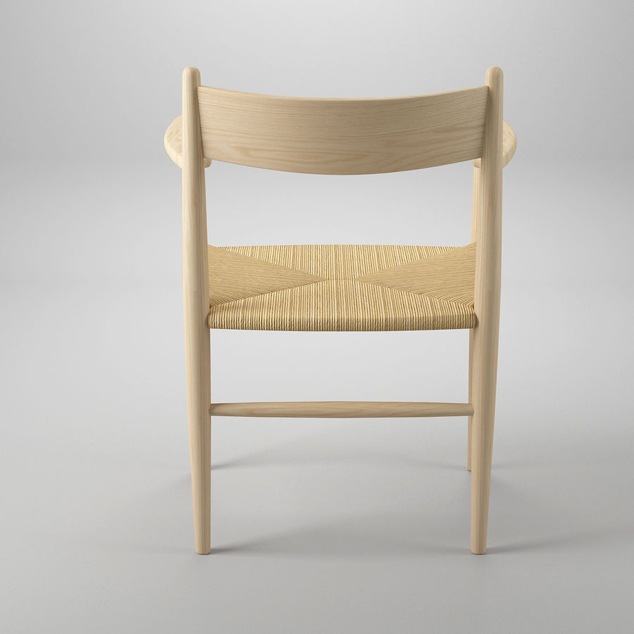 CH37 Hans J. Wegner主席 royalty-free 3d model - Preview no. 6