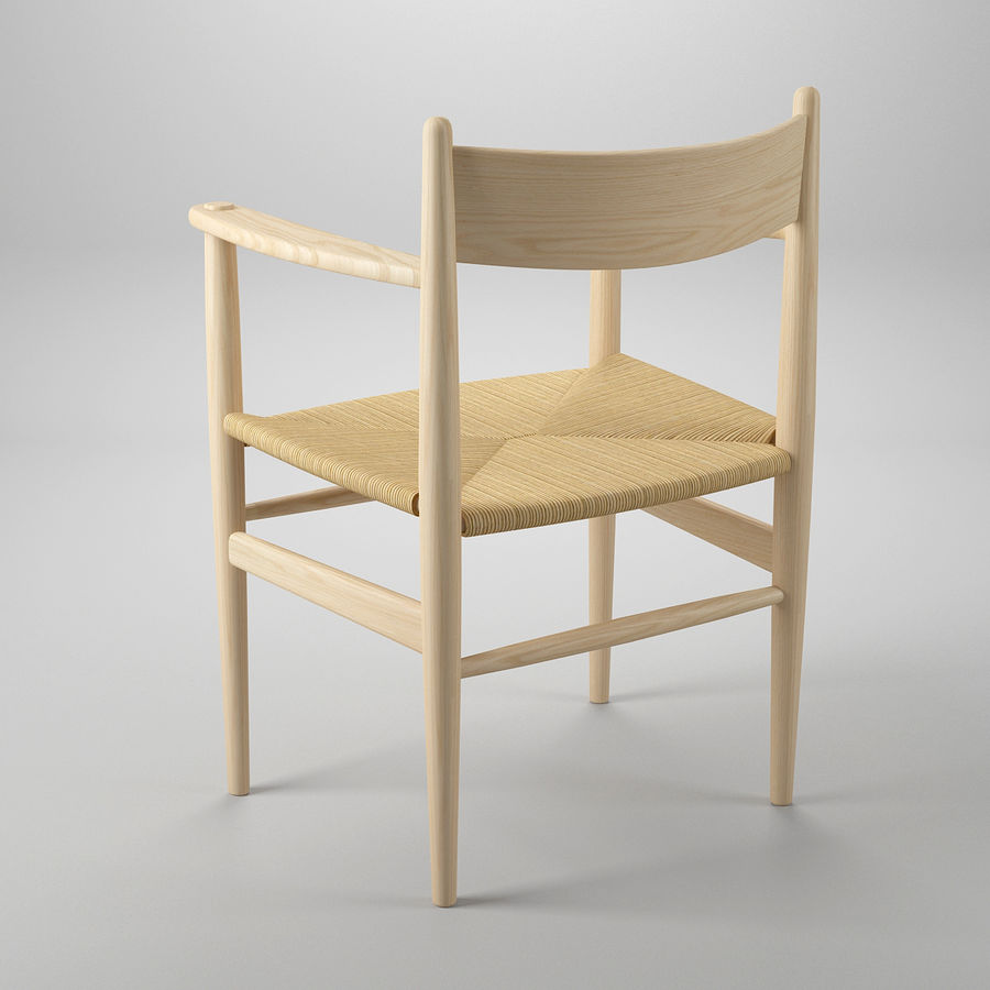 CH37 Hans J. Wegner主席 royalty-free 3d model - Preview no. 5