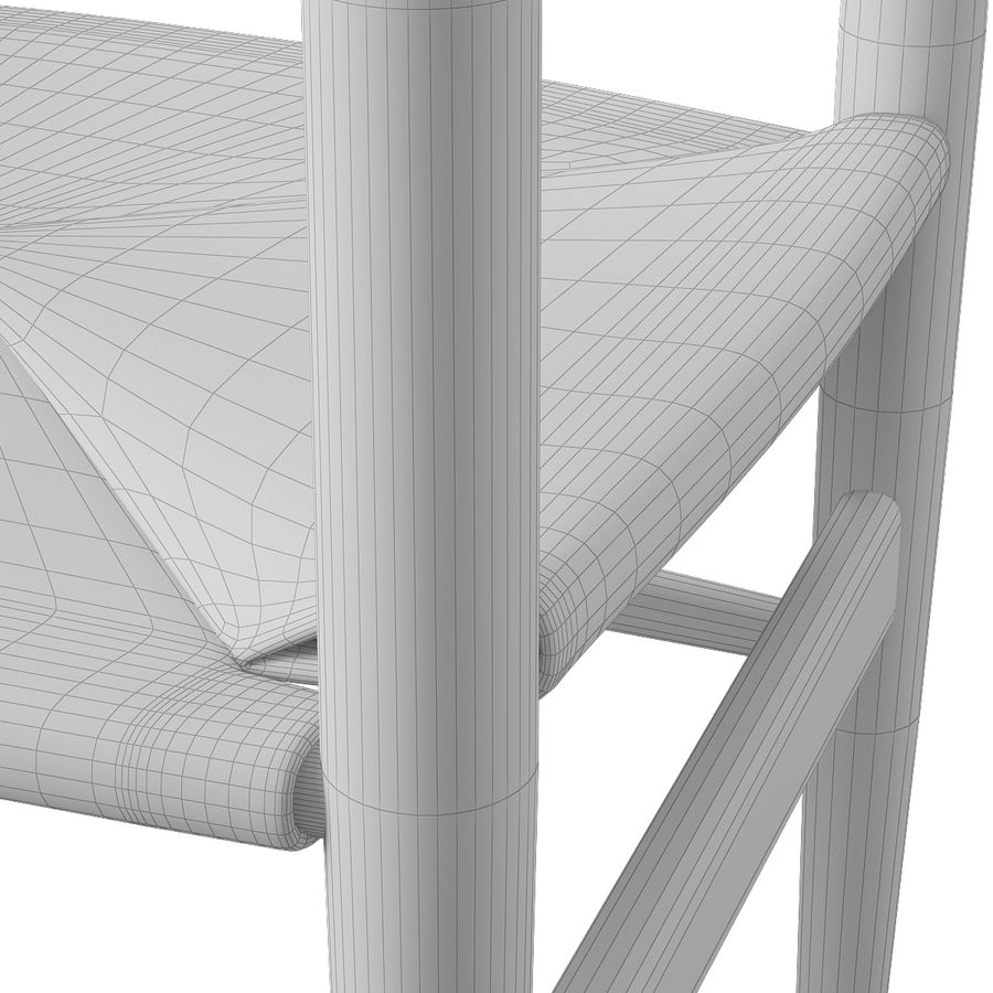 CH37 Hans J. Wegner主席 royalty-free 3d model - Preview no. 12