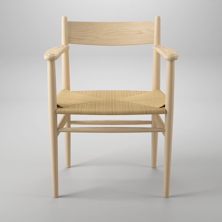 CH37 Hans J. Wegner主席 royalty-free 3d model - Preview no. 3