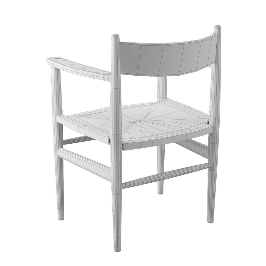 CH37 Hans J. Wegner主席 royalty-free 3d model - Preview no. 9
