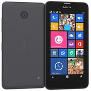 诺基亚Lumia 630 635双卡黑色 3d model