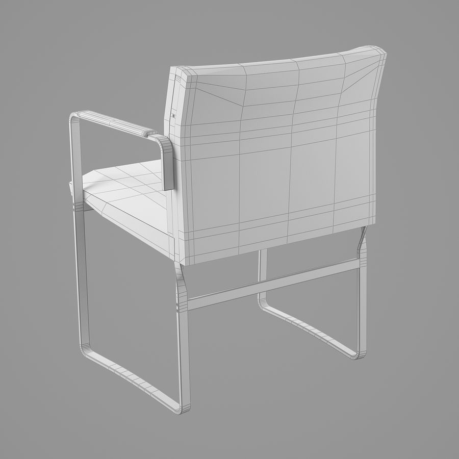 CH111 Hans J. Wegner Chair royalty-free 3d model - Preview no. 17