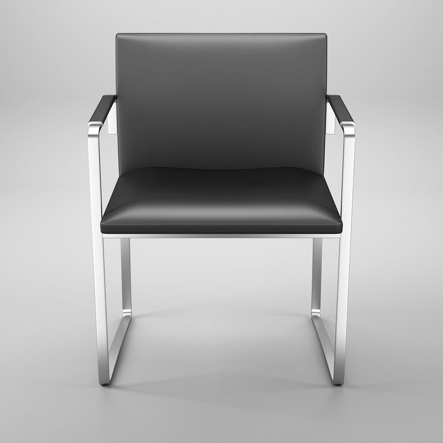 CH111 Hans J. Wegner Chair royalty-free 3d model - Preview no. 3