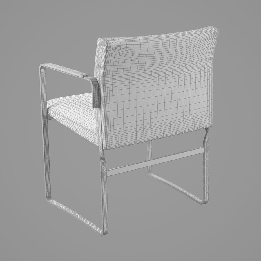 CH111 Hans J. Wegner Chair royalty-free 3d model - Preview no. 18