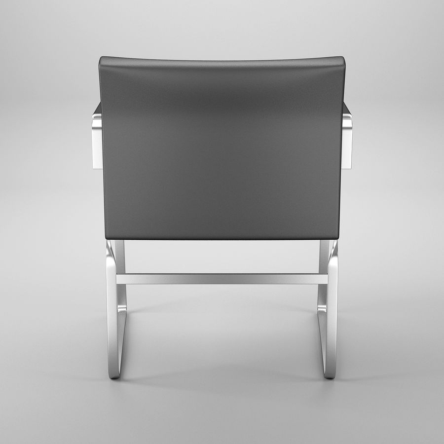 CH111 Hans J. Wegner Chair royalty-free 3d model - Preview no. 6