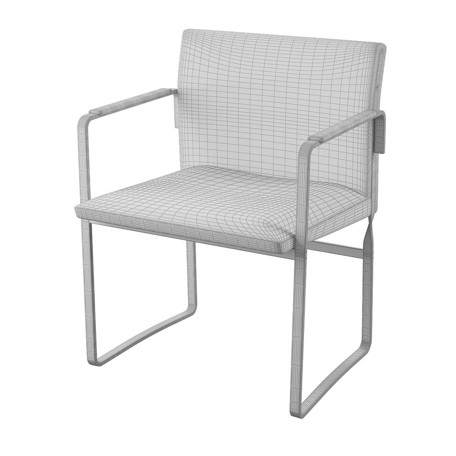 CH111 Hans J. Wegner Chair royalty-free 3d model - Preview no. 8