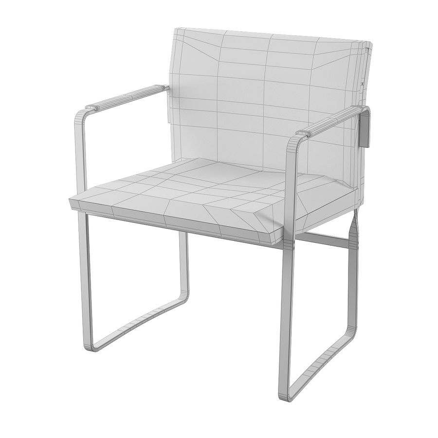 CH111 Hans J. Wegner Chair royalty-free 3d model - Preview no. 7