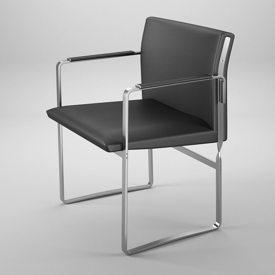 CH111 Hans J. Wegner Chair royalty-free 3d model - Preview no. 2