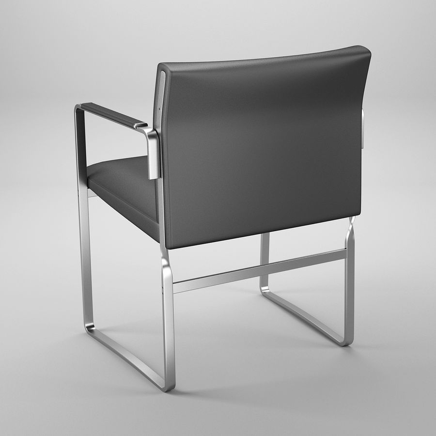 CH111 Hans J. Wegner Chair royalty-free 3d model - Preview no. 5