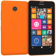 Nokia Lumia 630 635 Dual SIM Bright Orange 3d model