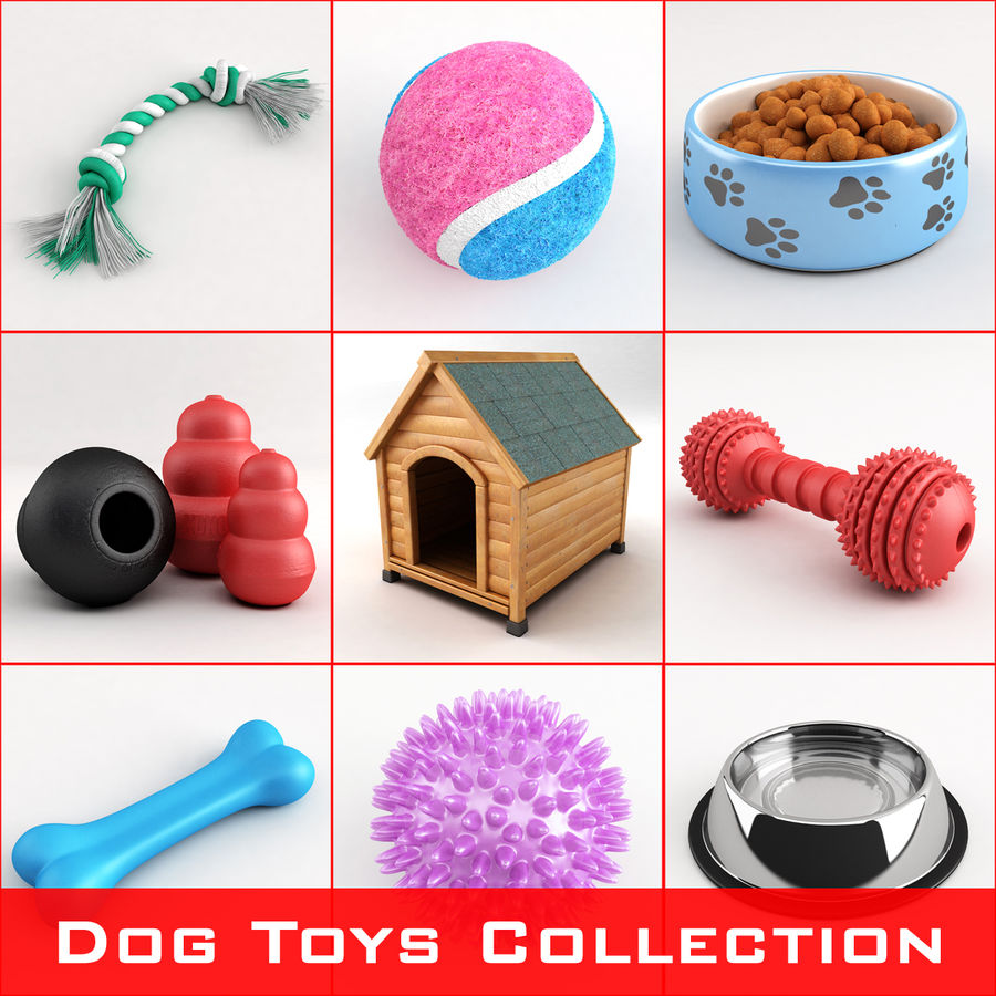 Dog Toys Collection royalty-free 3d model - Preview no. 1