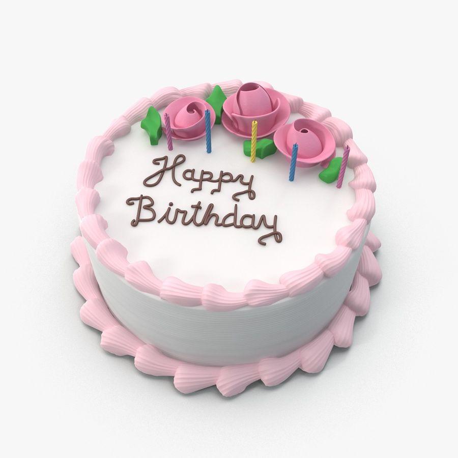 Happy Birthday Cake 3d Model 49 Obj Fbx X Free3d