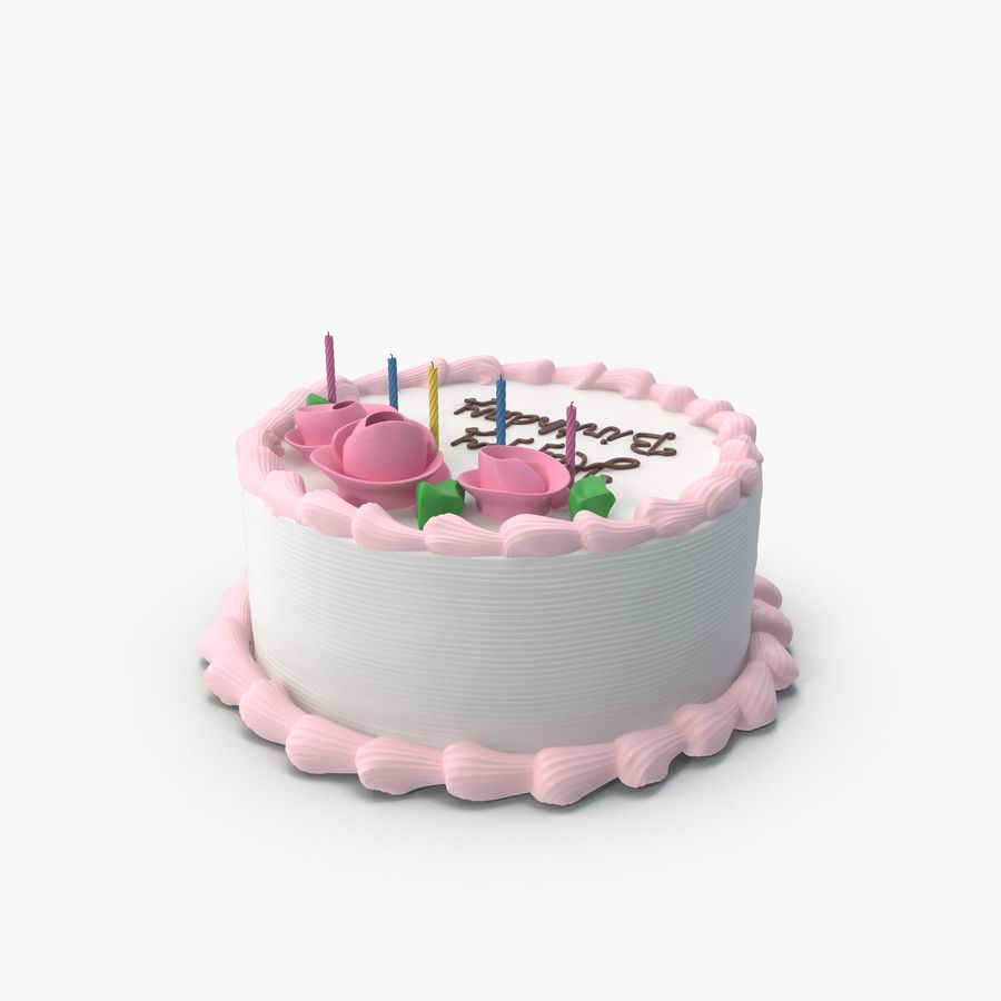 Happy Birthday Cake 3d Model 49 Obj Fbx X Free3d