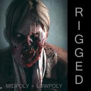 Zombie femminile 3d model