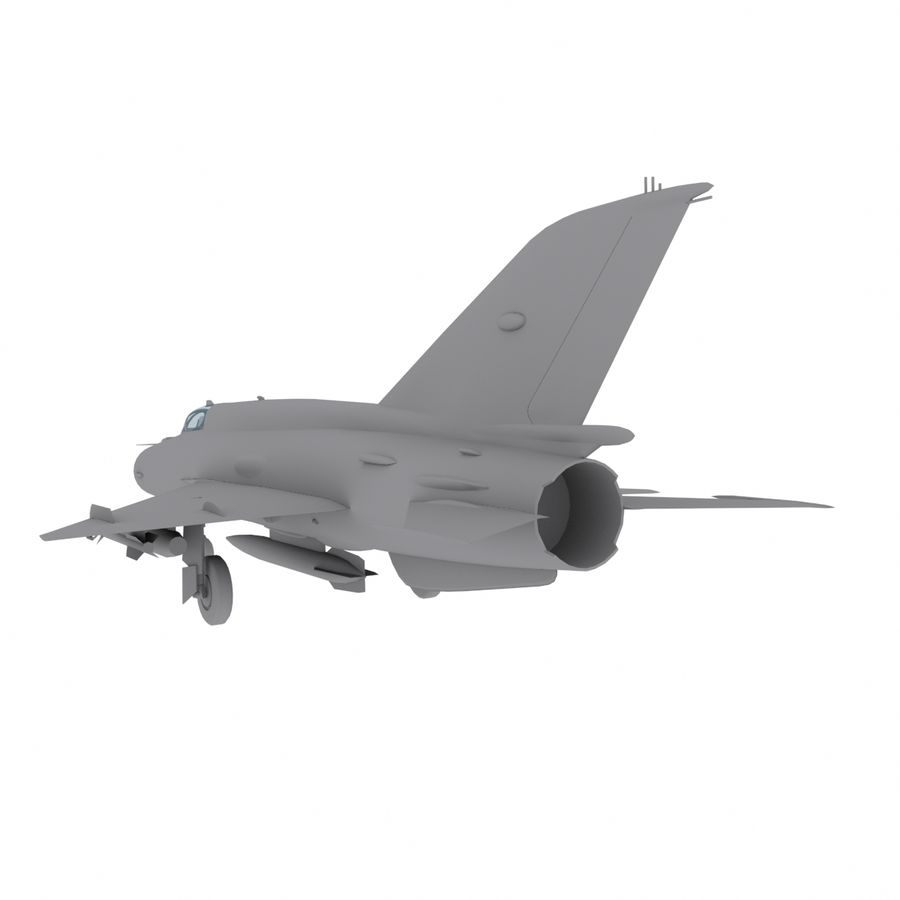 Mig21 Fishebed Soviet Fighter Game Model royalty-free 3d model - Preview no. 8
