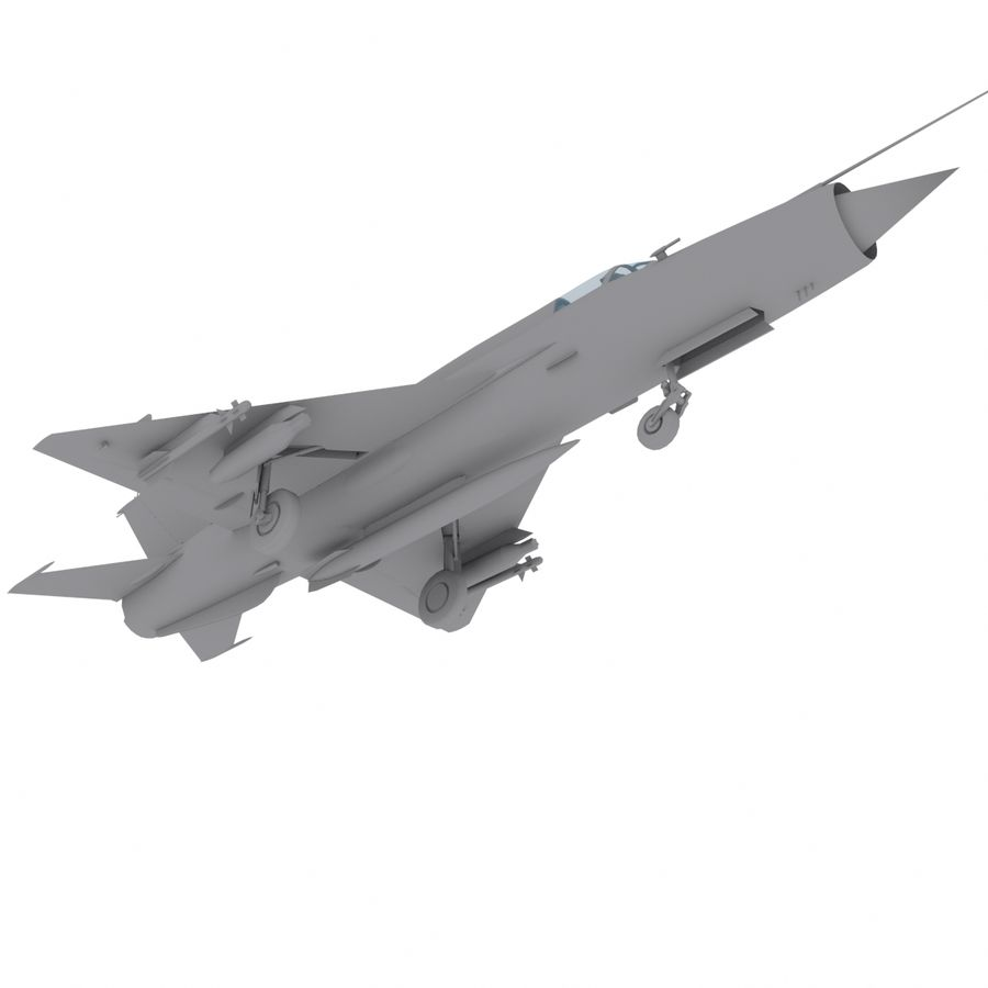 Mig21 Fishebed Soviet Fighter Game Model royalty-free 3d model - Preview no. 14