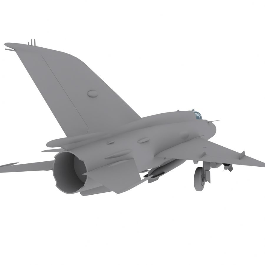Mig21 Fishebed Soviet Fighter Game Model royalty-free 3d model - Preview no. 10