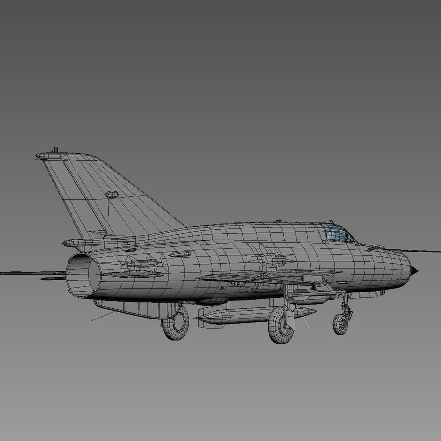 Mig21 Fishebed Soviet Fighter Game Model royalty-free 3d model - Preview no. 25