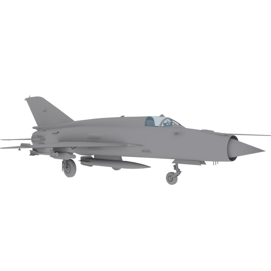 Mig21 Fishebed Soviet Fighter Game Model royalty-free 3d model - Preview no. 13