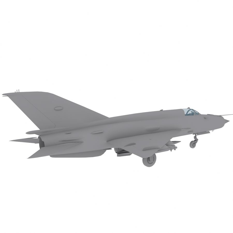 Mig21 Fishebed Soviet Fighter Game Model royalty-free 3d model - Preview no. 11