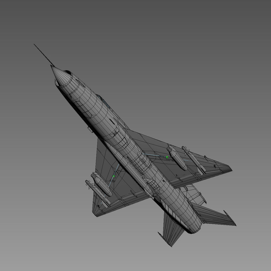 Mig21 Fishebed Soviet Fighter Game Model royalty-free 3d model - Preview no. 27