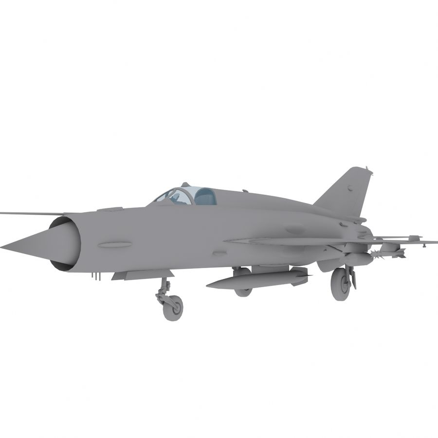 Mig21 Fishebed Soviet Fighter Game Model royalty-free 3d model - Preview no. 1