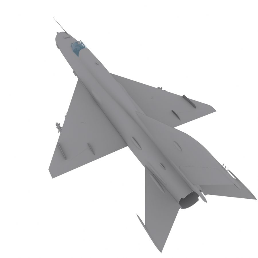 Mig21 Fishebed Soviet Fighter Game Model royalty-free 3d model - Preview no. 17