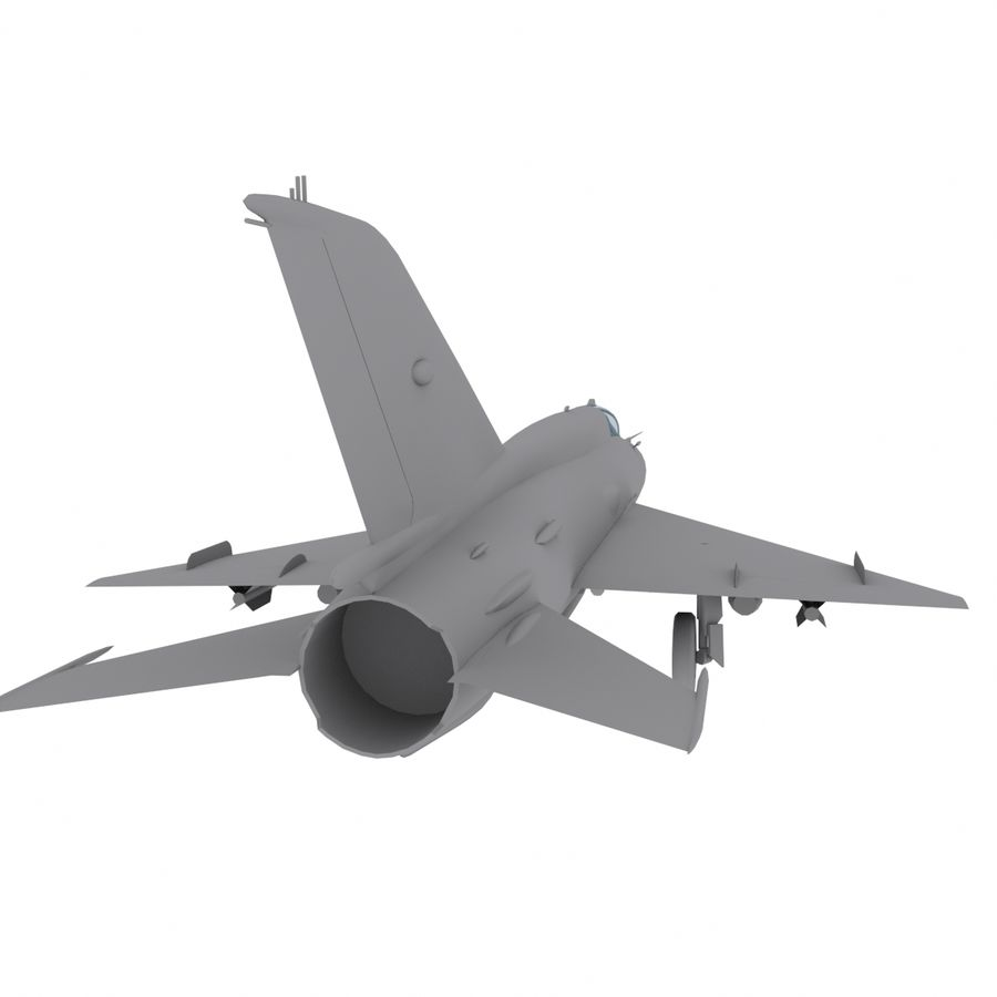 Mig21 Fishebed Soviet Fighter Game Model royalty-free 3d model - Preview no. 9