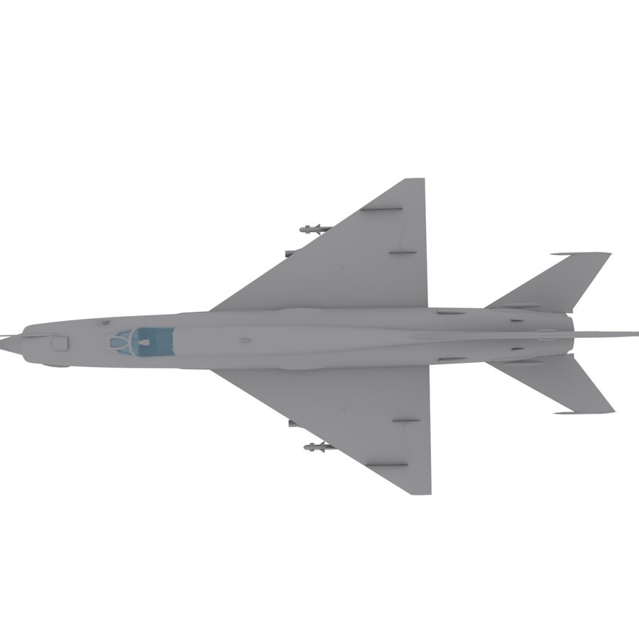 Mig21 Fishebed Soviet Fighter Game Model royalty-free 3d model - Preview no. 18