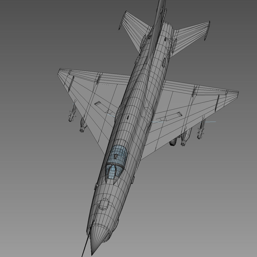Mig21 Fishebed Soviet Fighter Game Model royalty-free 3d model - Preview no. 22