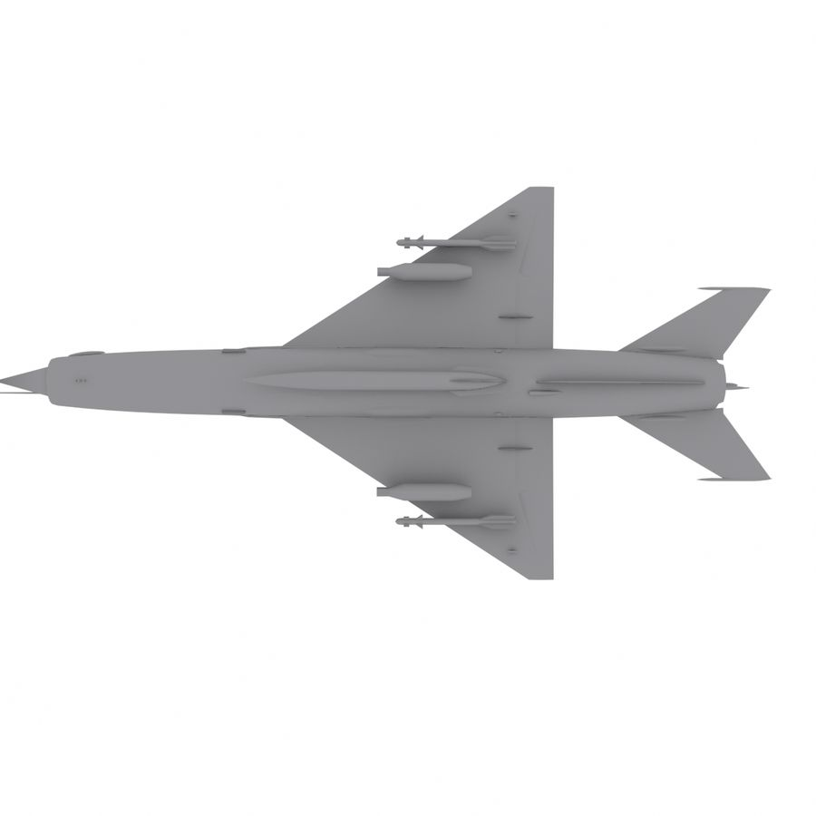 Mig21 Fishebed Soviet Fighter Game Model royalty-free 3d model - Preview no. 19