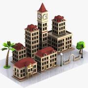 Cartoon Buildings 3d model