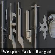 Pakiet broni - zasięg 3d model