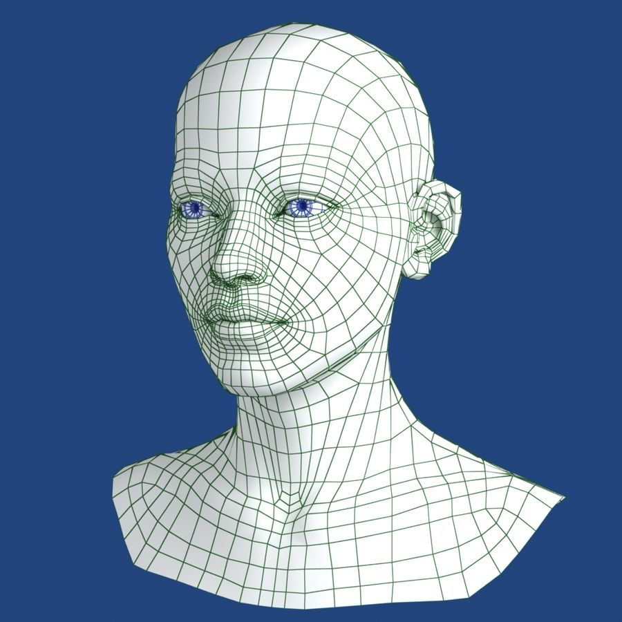 Woman Head 3D Model royalty-free 3d model - Preview no. 11