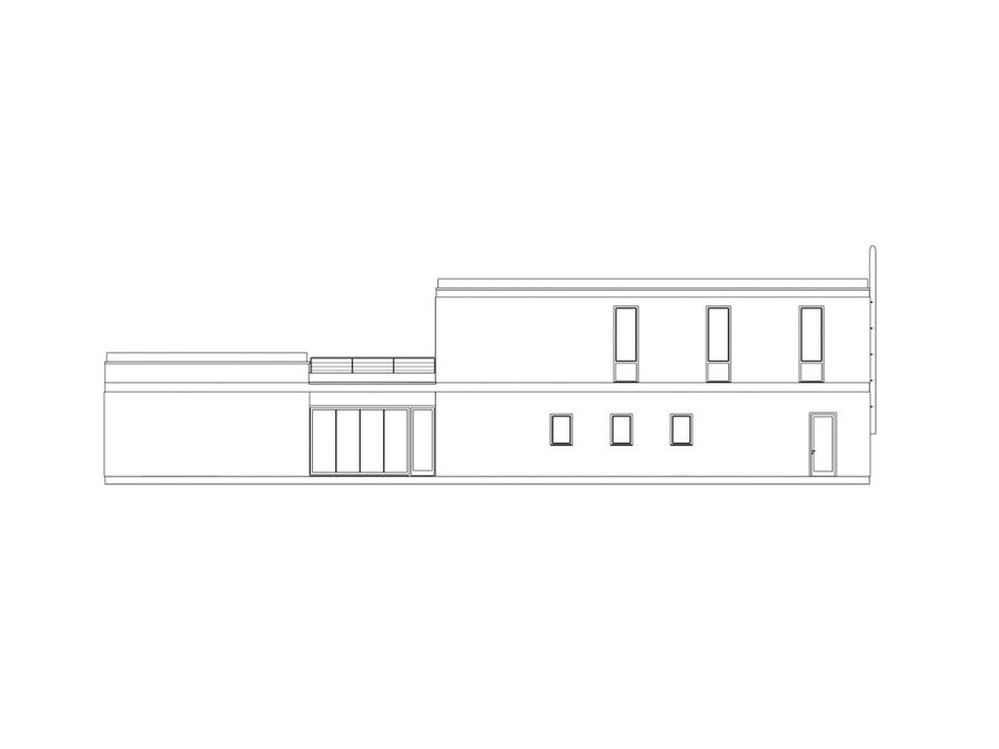Budynek restauracji royalty-free 3d model - Preview no. 3